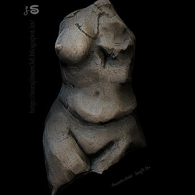 Surajit sen female body broken ss 07102017 sculpt