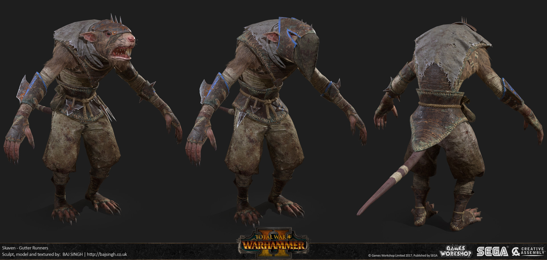 ArtStation - Total War: Warhammer 2 - Skaven Assassin and Runners