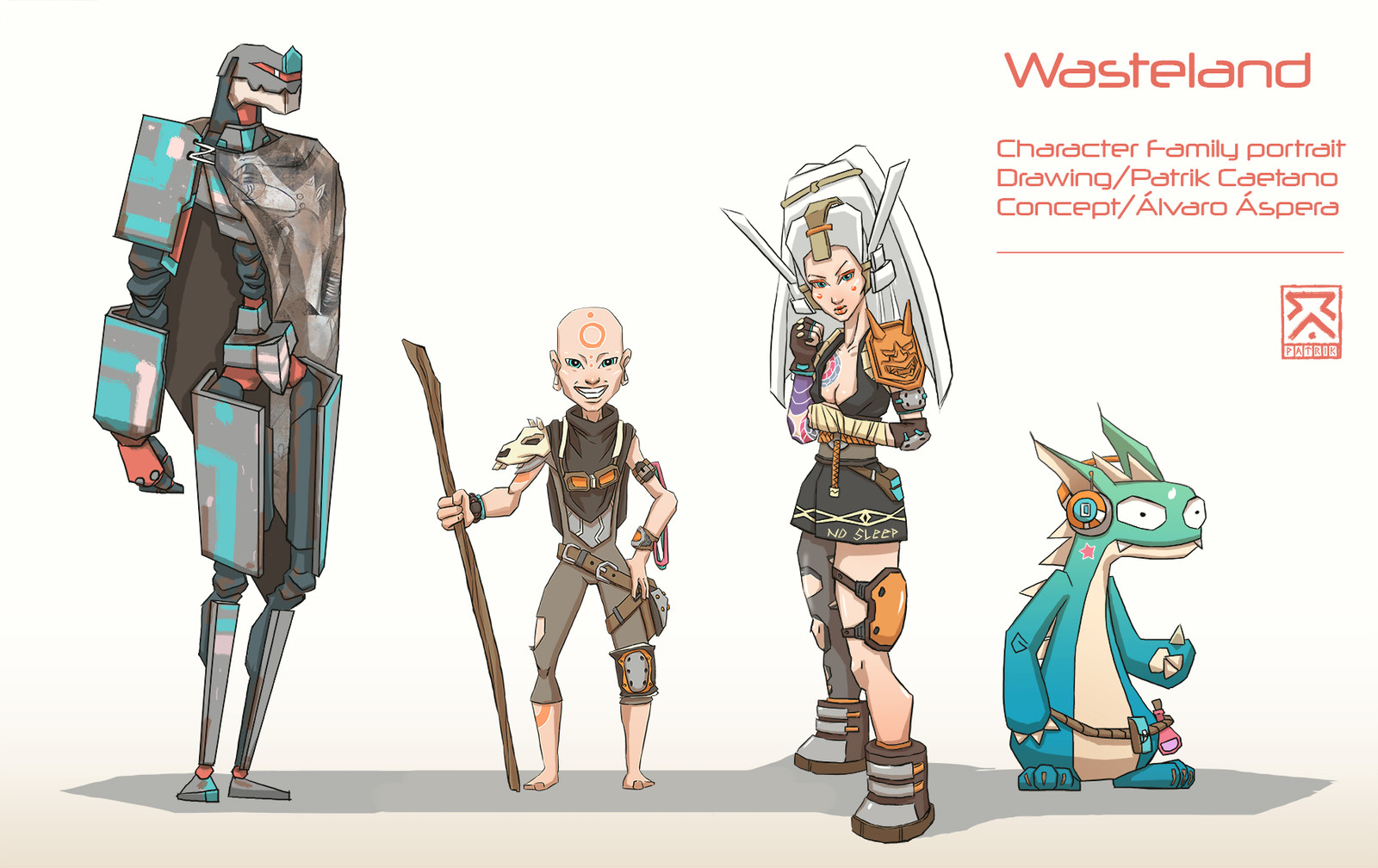 WAsteland Character deign line up