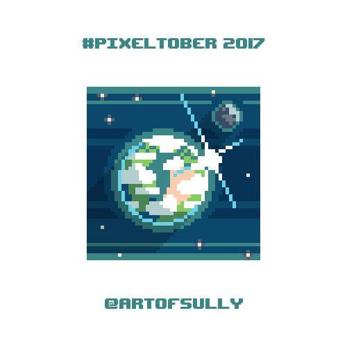#pixeltober - Day 6 - 'Cloudy Planet'
