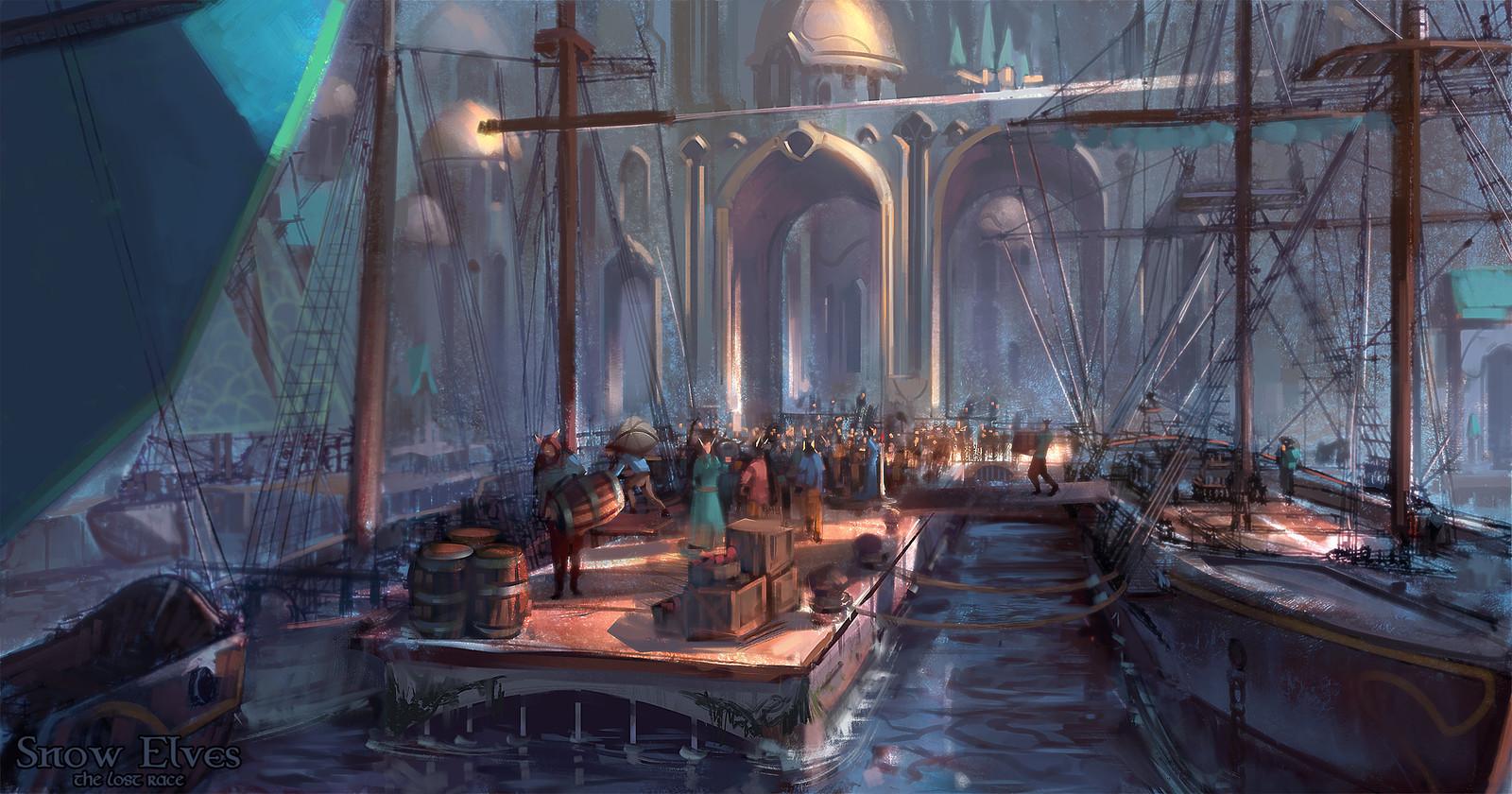 Snow Elves - Eryallon docks
