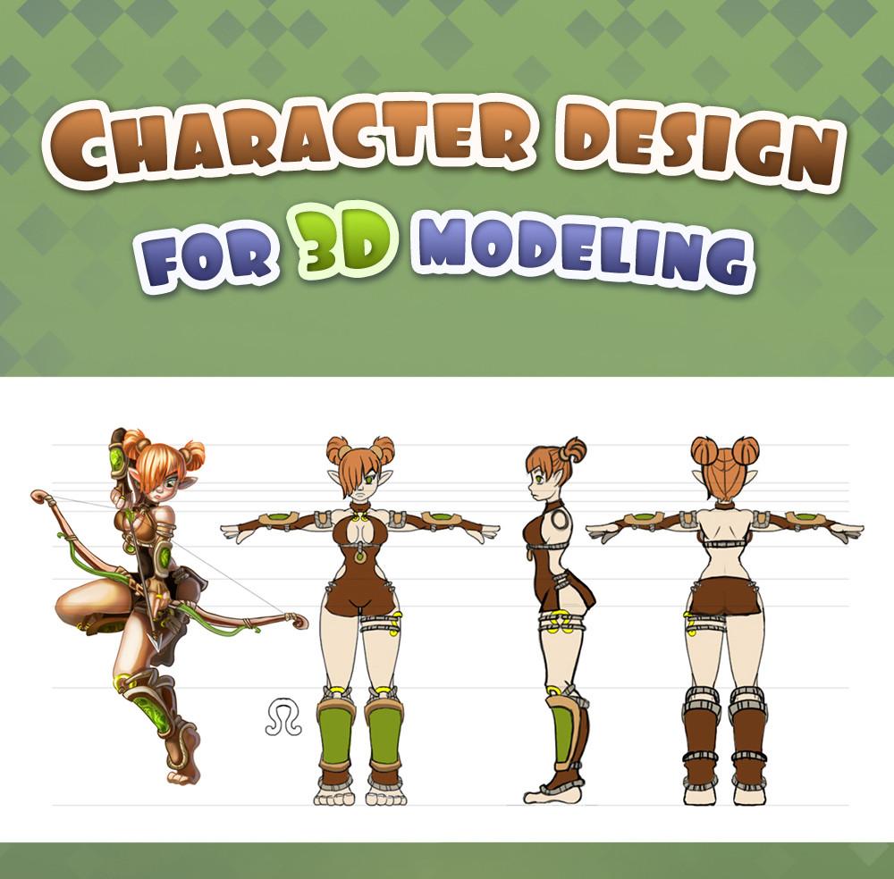 Enna lover character design for 3d modeling 2