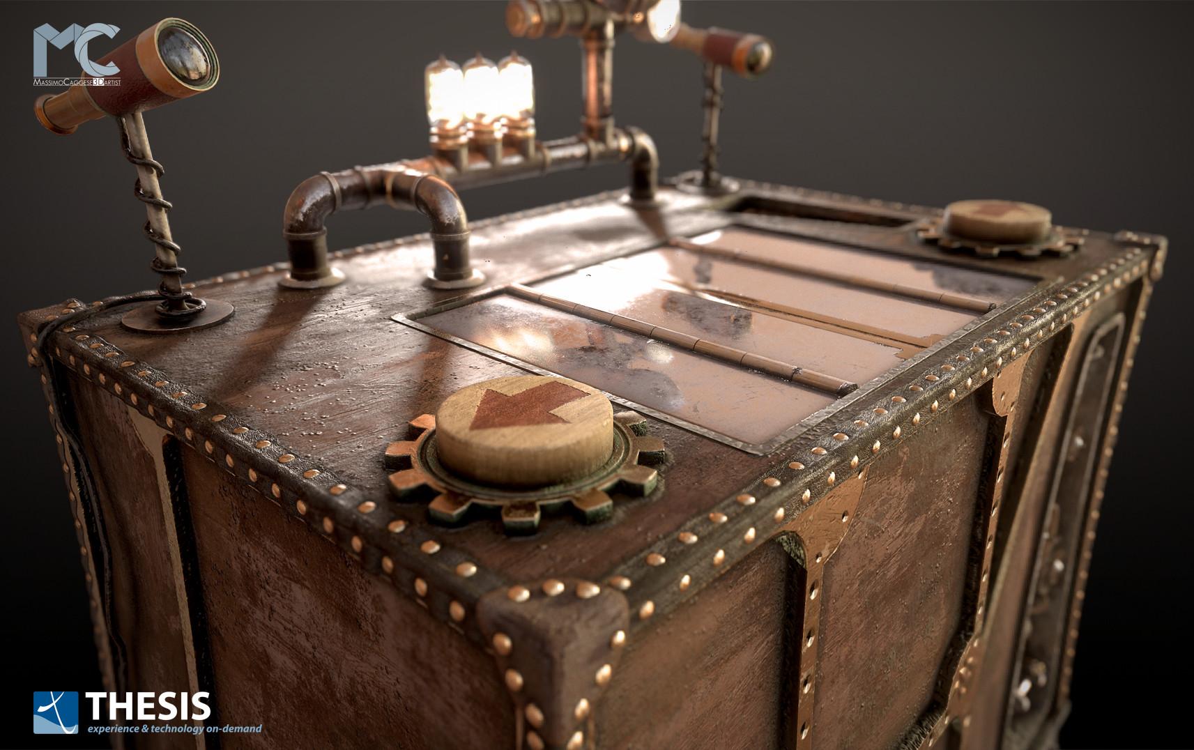 The 'Virtual Box' close-up (Marmoset Toolbag 3).