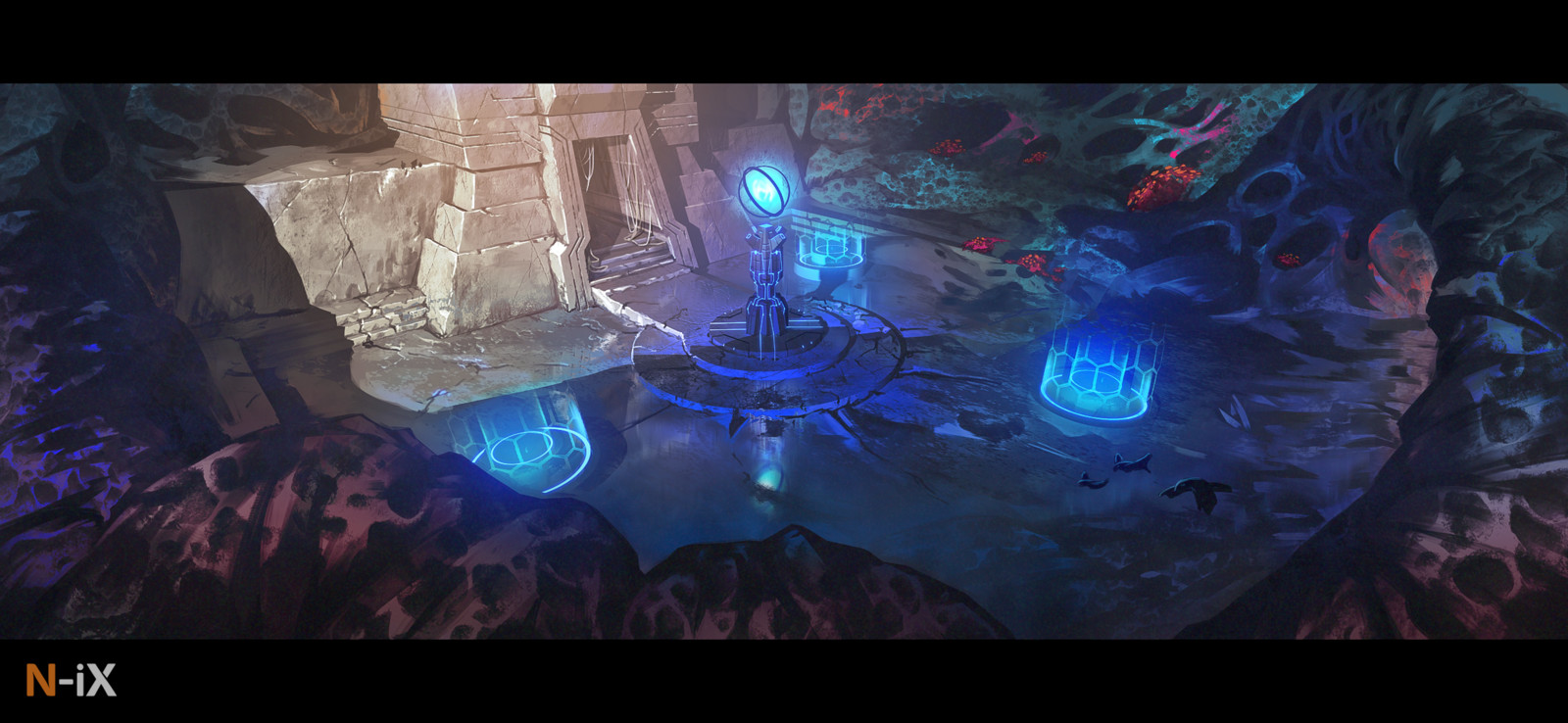 Otherworldly environment concept