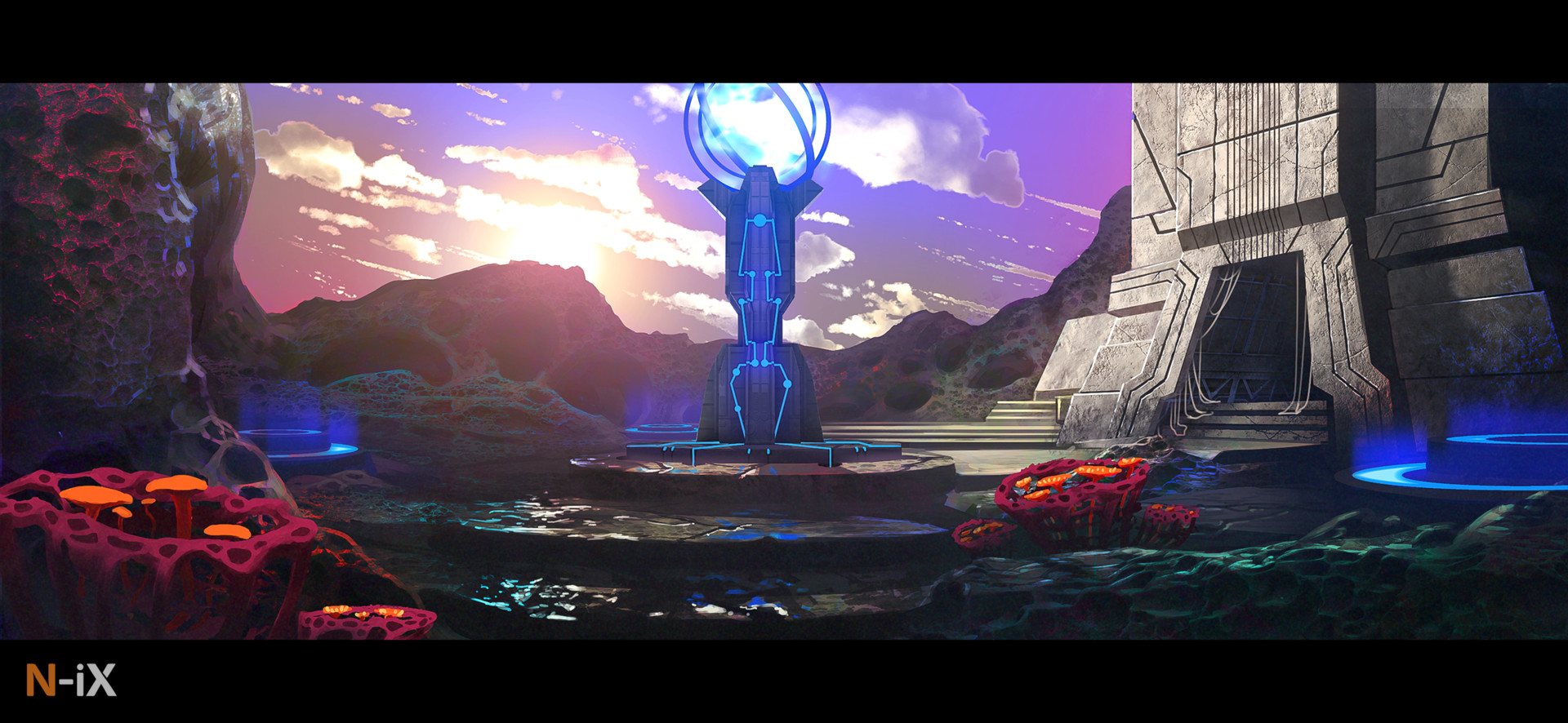 Concept of distant world architecture
