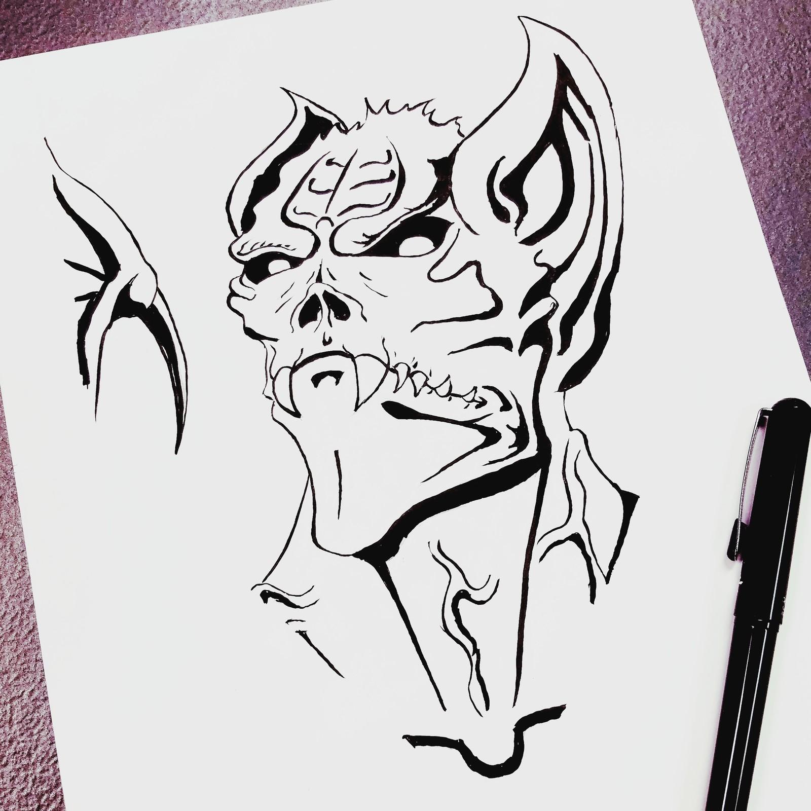 Man-Bat (Inktober Day 9: Screech)