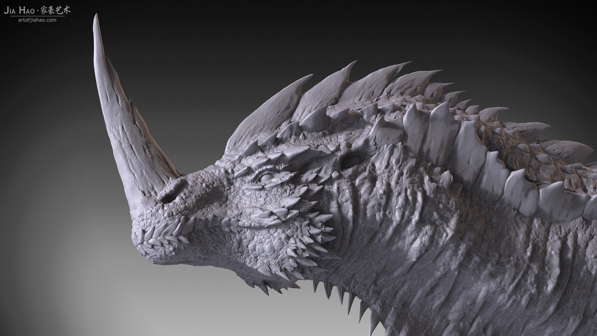Jia hao 2017 horneddragon digitalsculpting 01