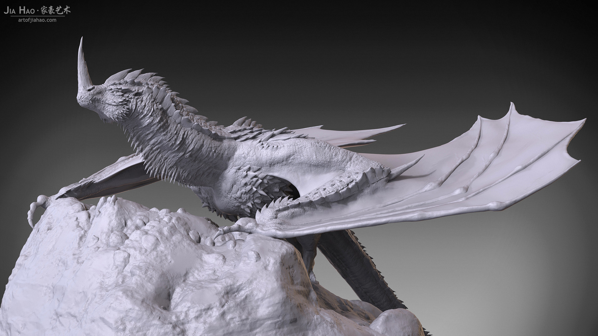 Jia hao 2017 horneddragon digitalsculpting 03