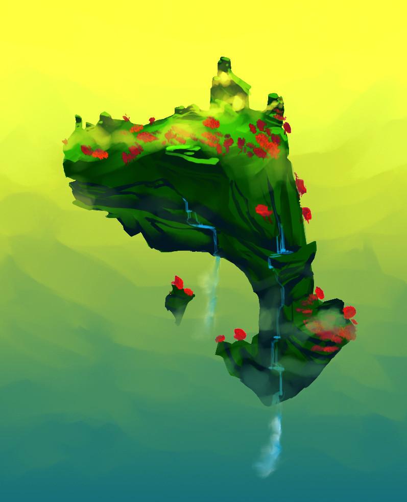 Flying Island Idea