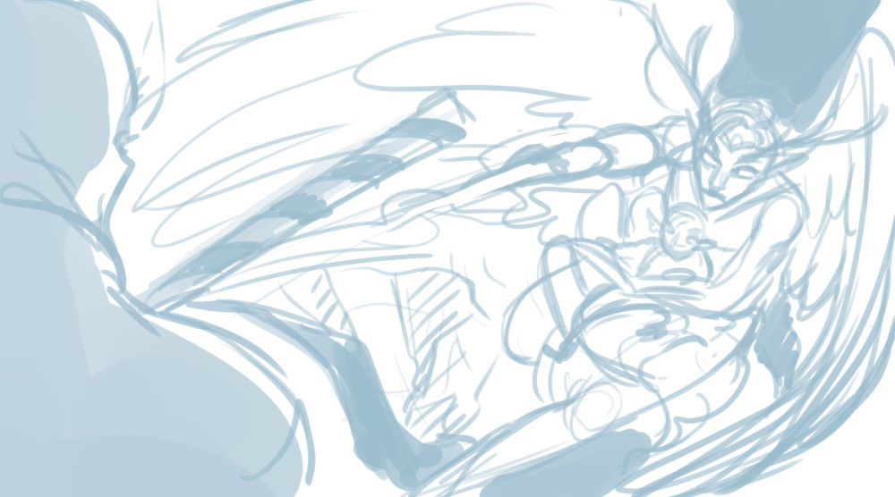 Rough layout sketch