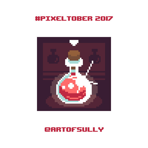 #pixeltober - Day 8 - 'Health Potion'