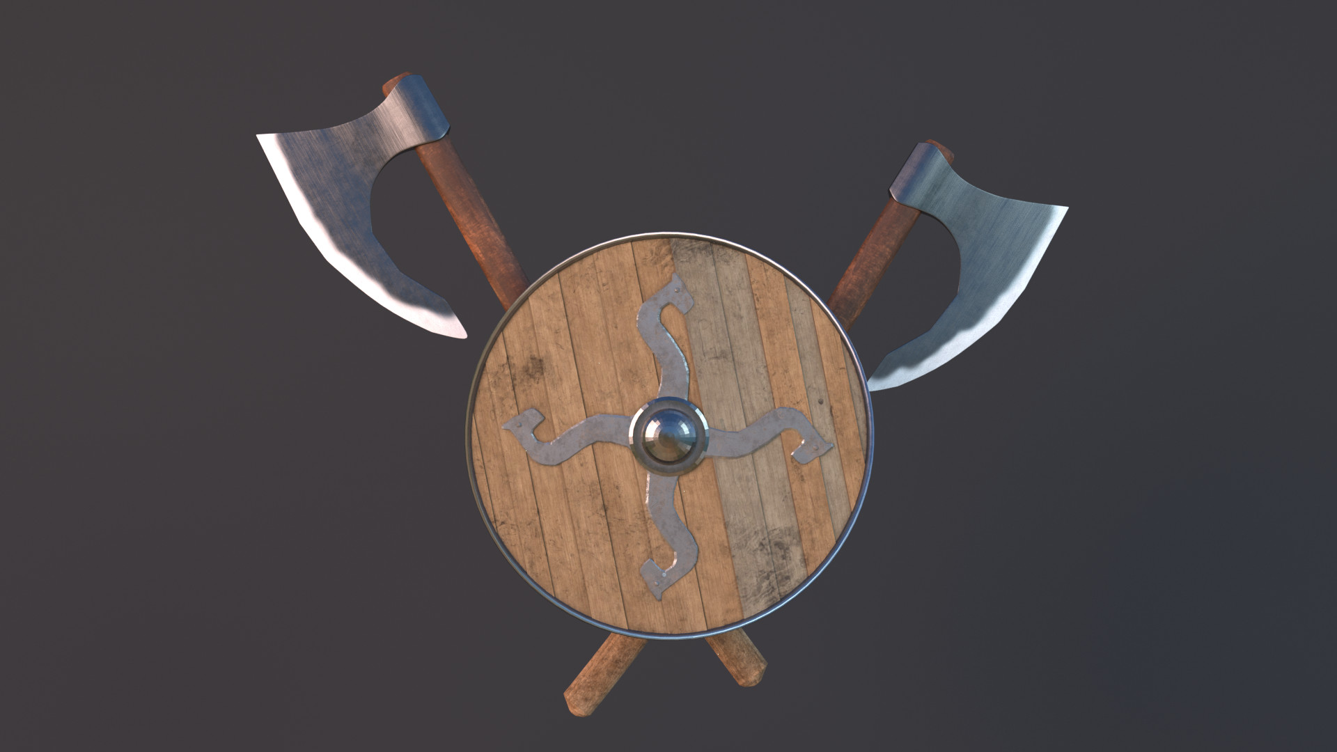 Victor Lebedev Viking Shield And Axe