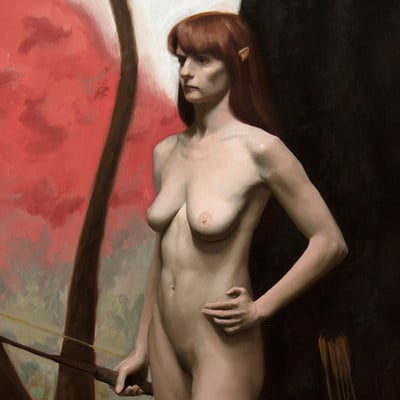 Bruno galuzzi wood elf bruno galuzzi corsini oil on canvas 24x36 3 000 00