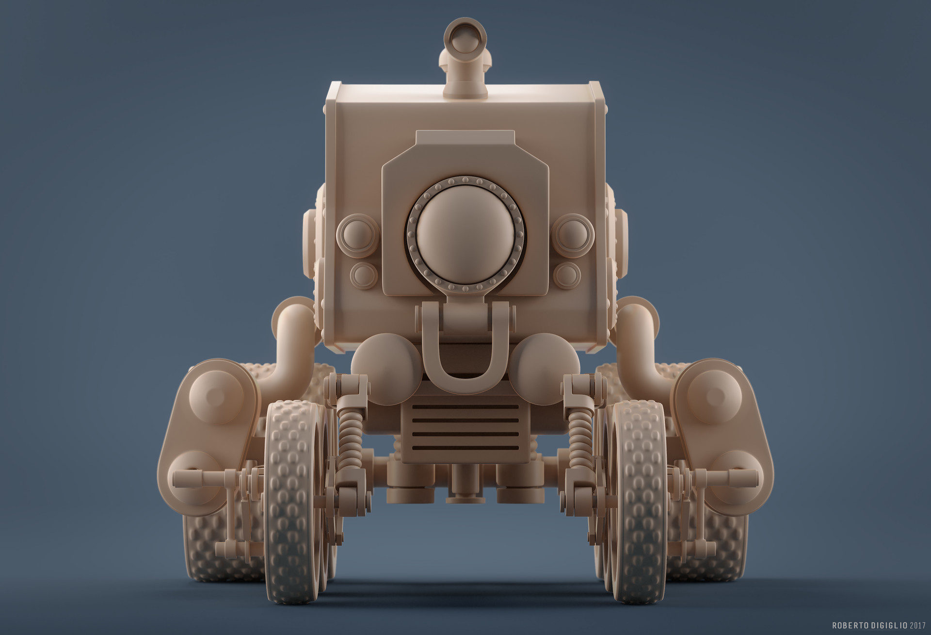 Roberto digiglio steampunkvehicleclay3hd