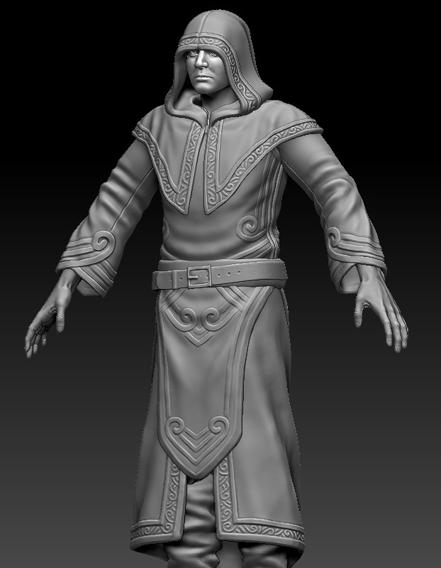 Wizard/ghost robes sculpt