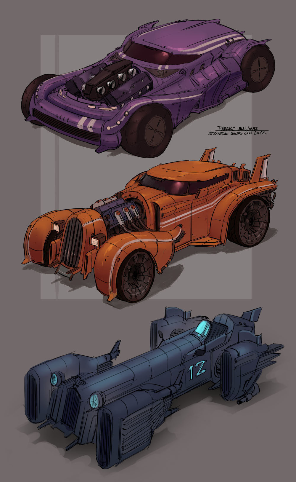 Artstation Steampunk Vehicle Concept Fabrice Magdanz