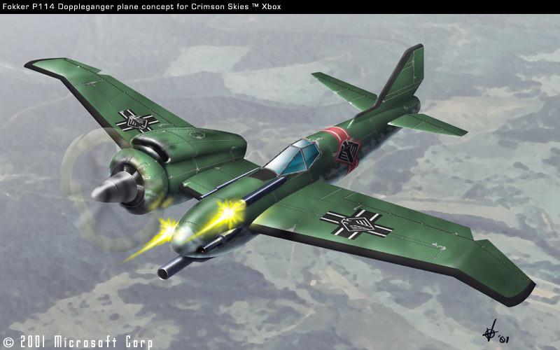 """Doppelgänger"" plane for Crimson Skies Xbox title"