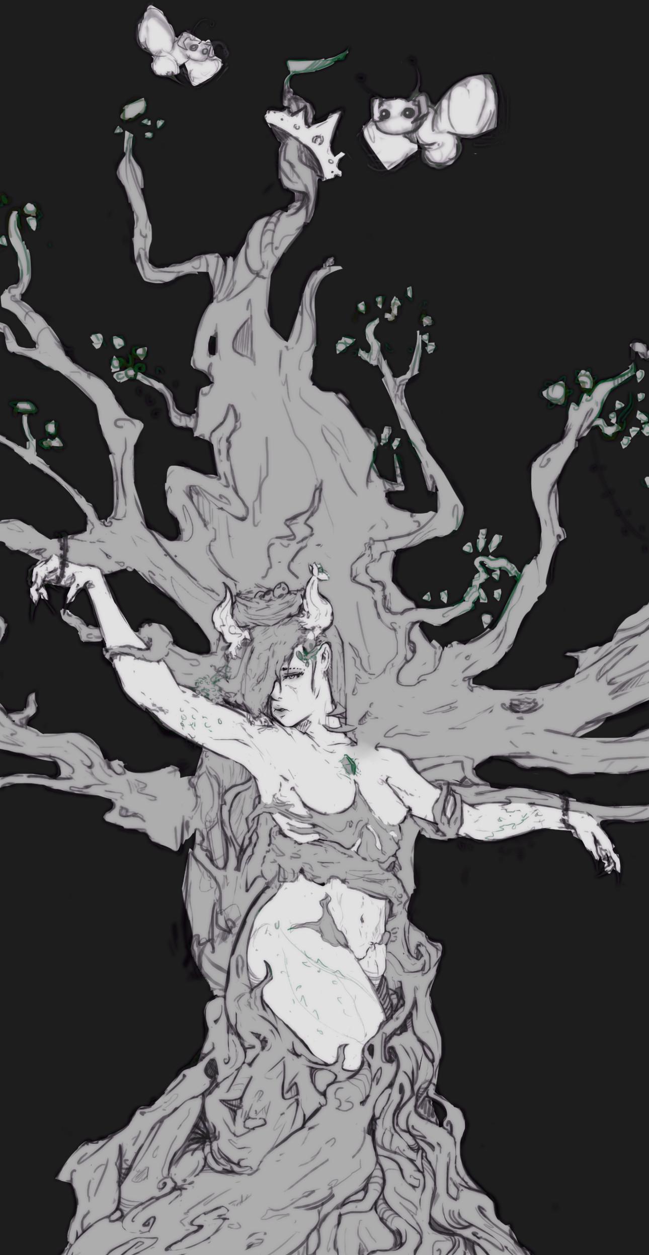 Boyan kazalov treegirlsketch2