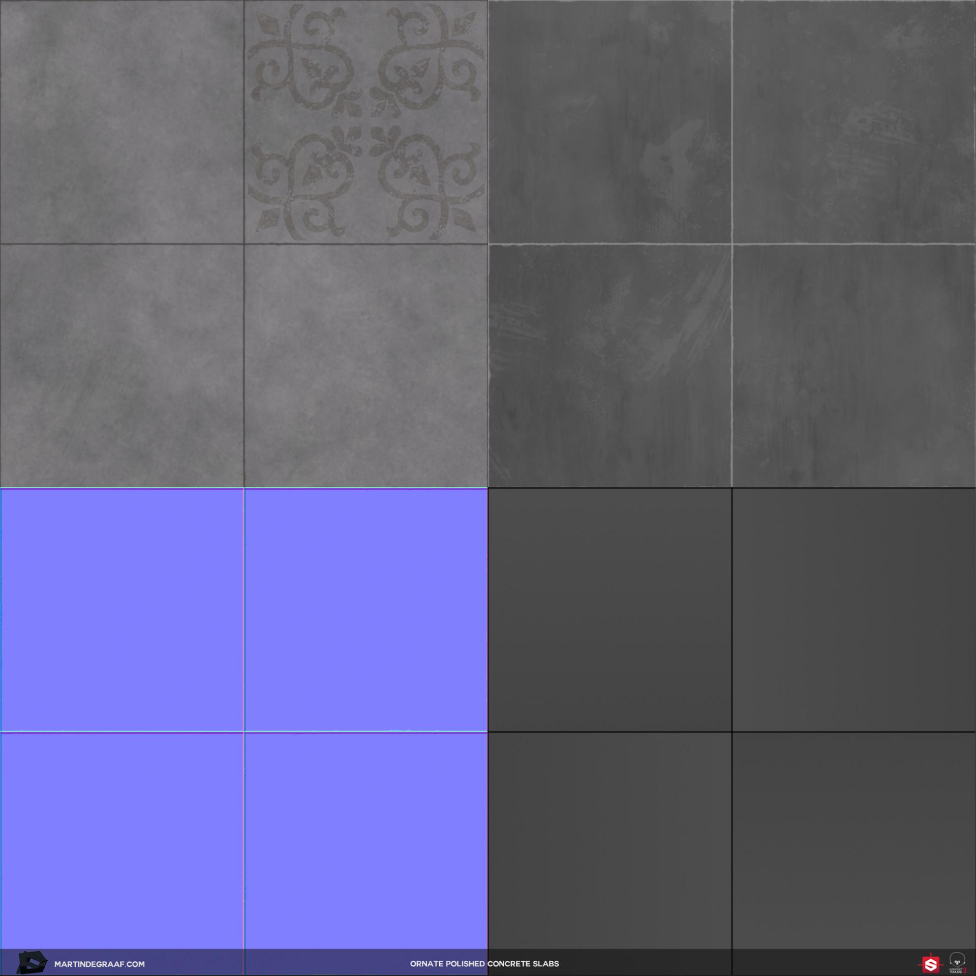 Martin de graaf ornate polished concrete slabs substance texturesheet martin de graaf 2017