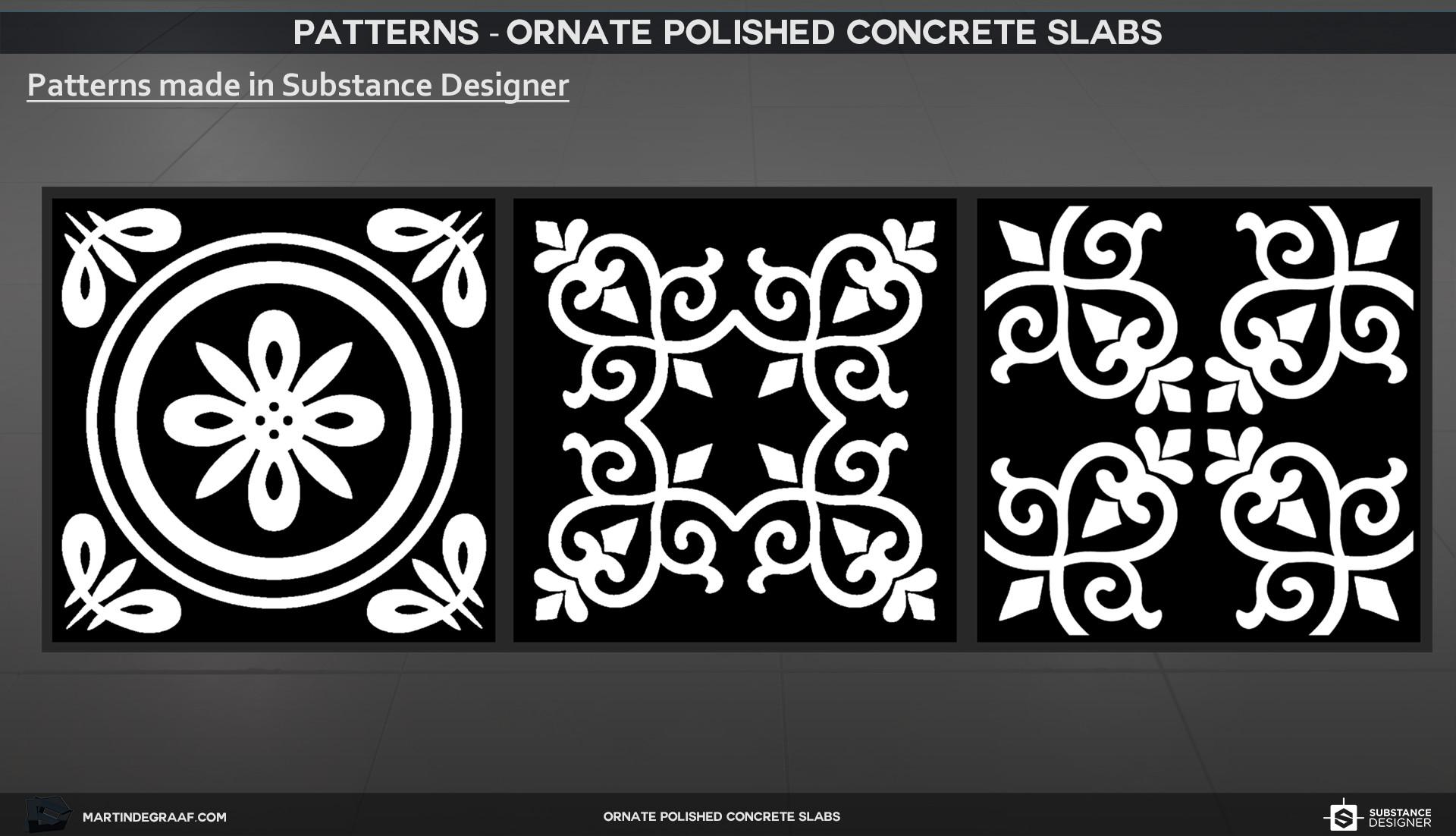 Martin de graaf ornate polished concrete slabs substance patterns martin de graaf 2017