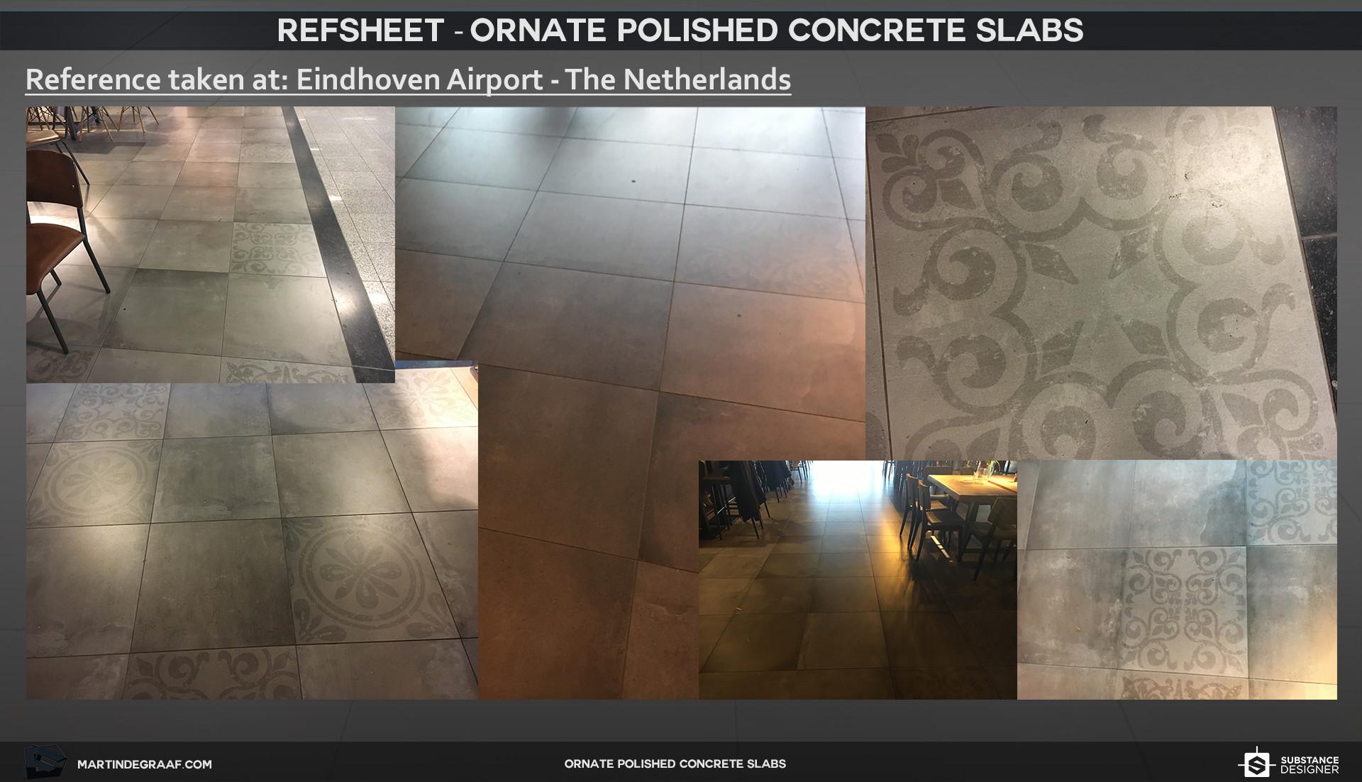 Martin de graaf ornate polished concrete slabs substance refsheet martin de graaf 2017