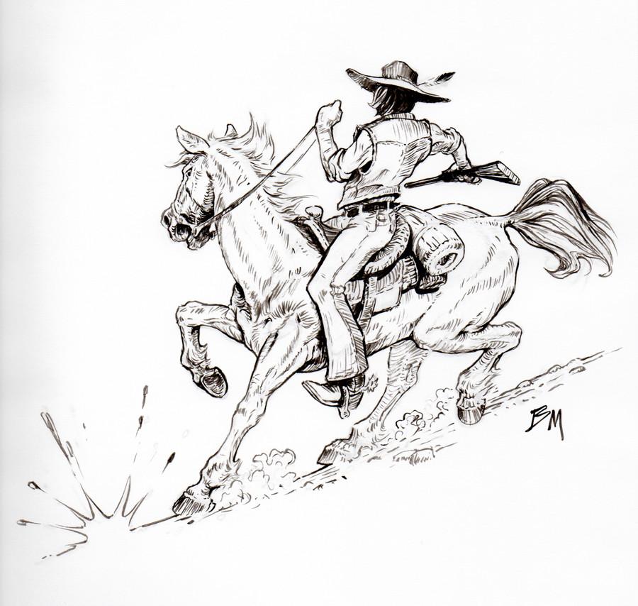 Bill melvin cowboy inkfin