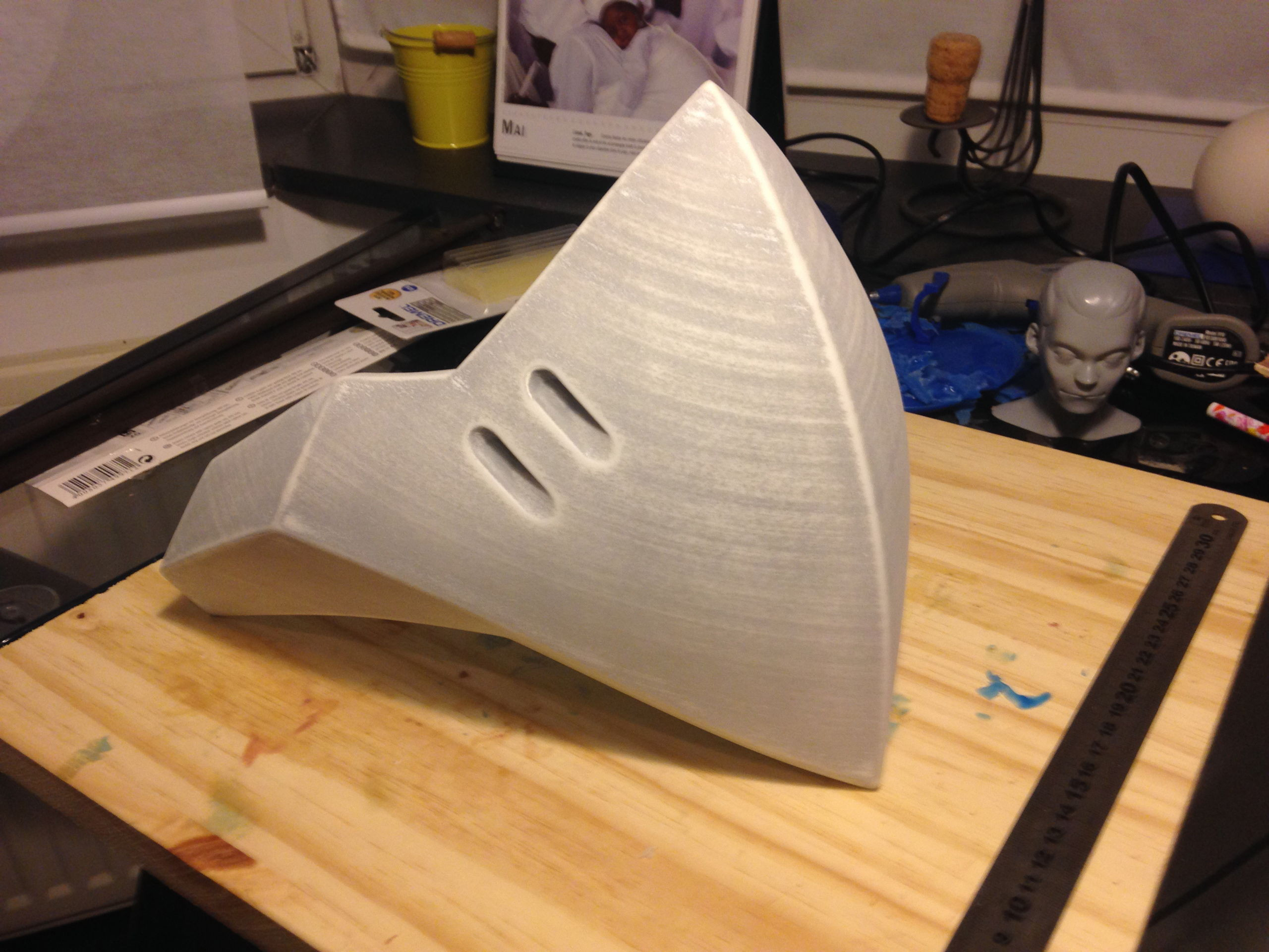 after  a first round of primer, filler and sanding
