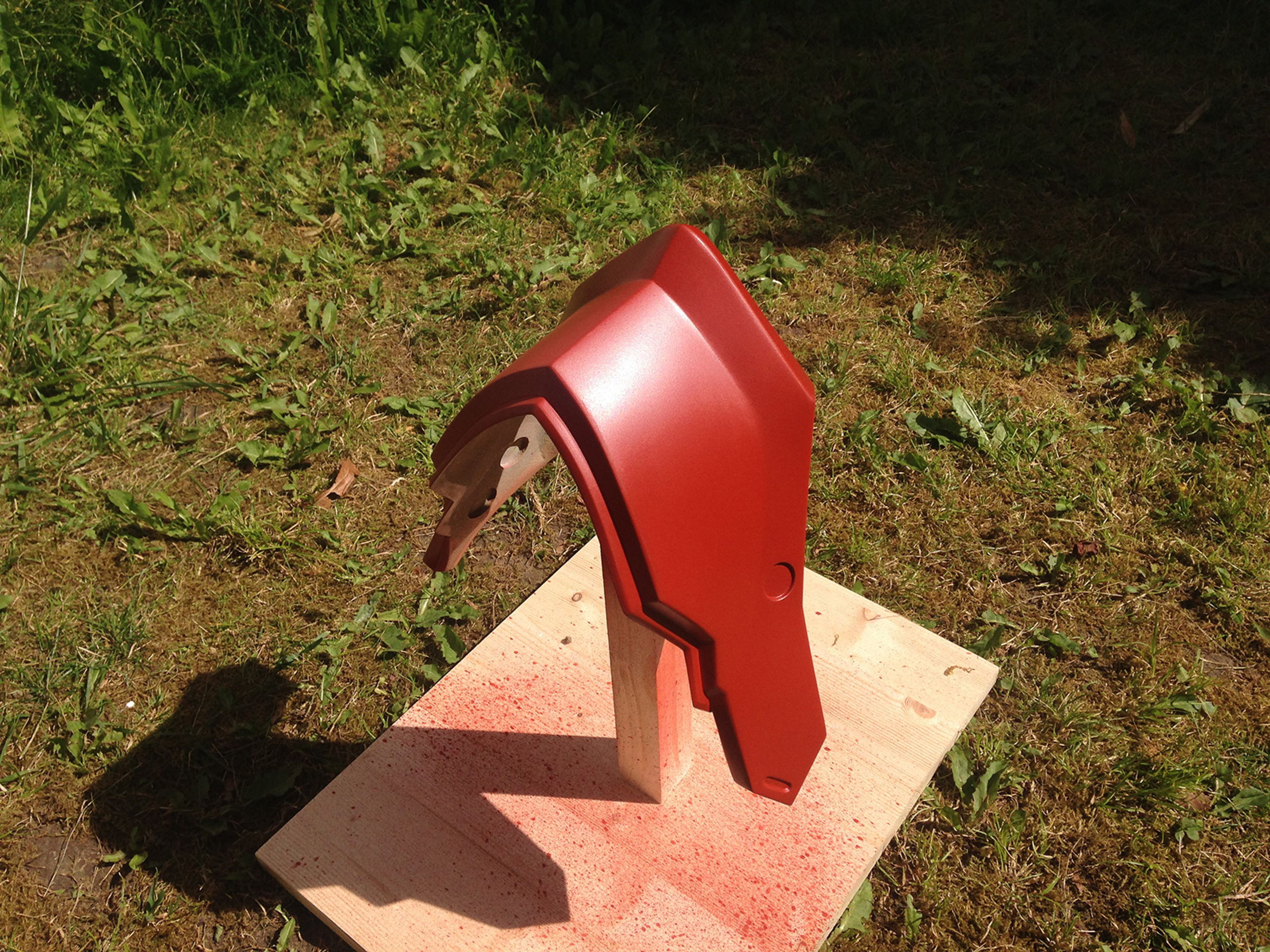 Final coat on the jaw