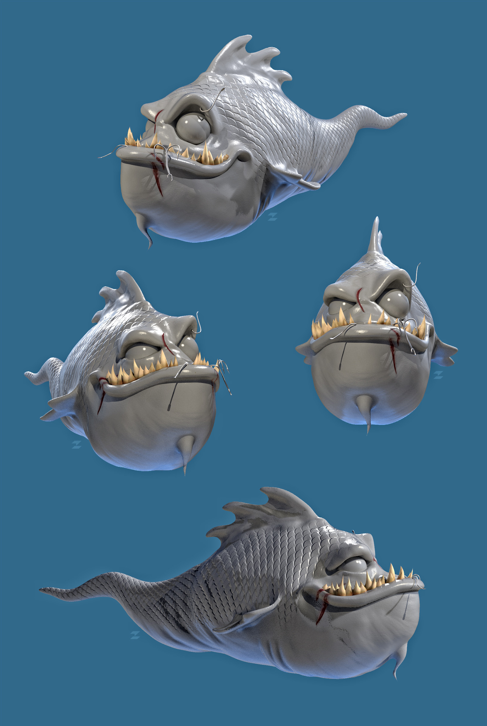 Tomislav zvonaric cartoon fish model preview