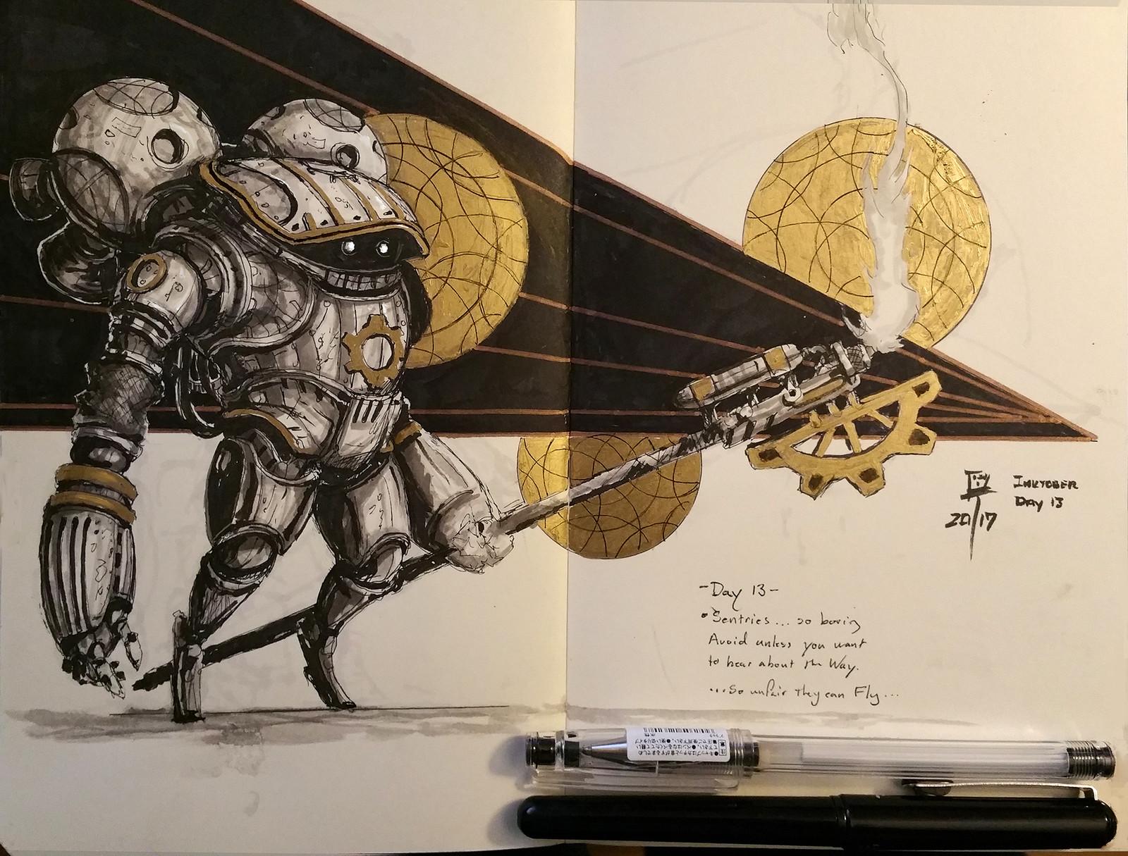 Inktober #13: Sentries