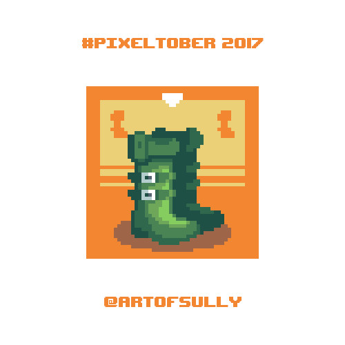 #pixeltober - Day 12 - 'Boots of Speed'