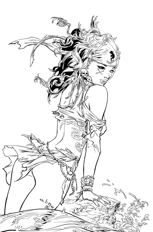 Morgana Ariel Pose