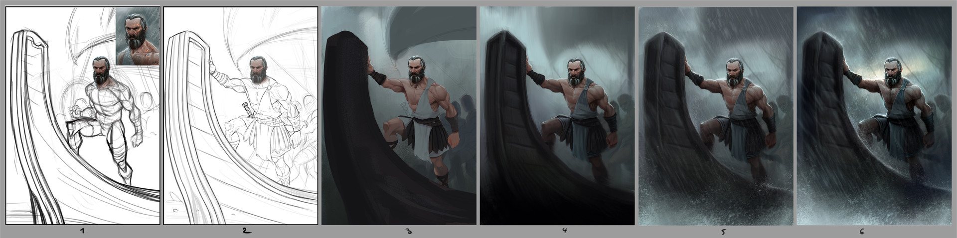 Erkan karagoez odysseus illustration process