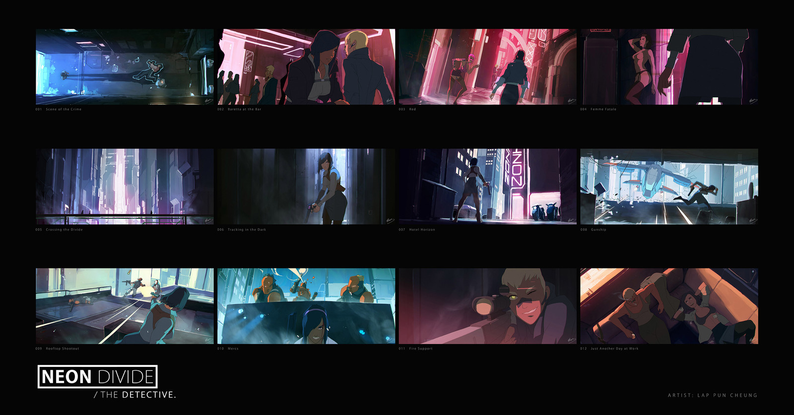 Neon Divide - Cinematic Keyframes - The Detective