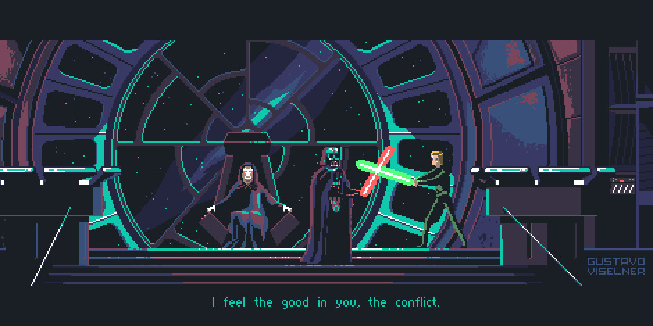 Gustavo Viselner Star Wars Return Of The Jedi Pixel Art