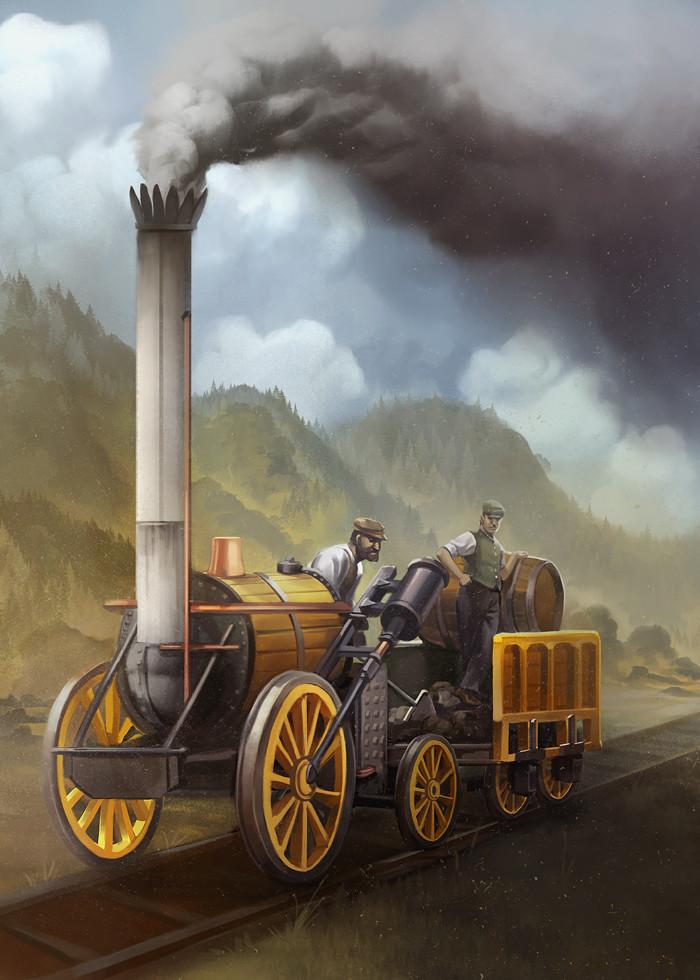Stephenson's Rocket card art
