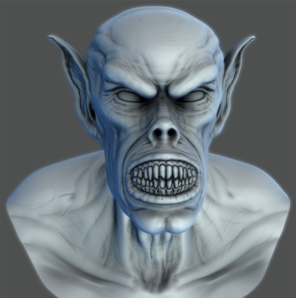 Demon Head Mudbox Sculpt...around 3 hours.