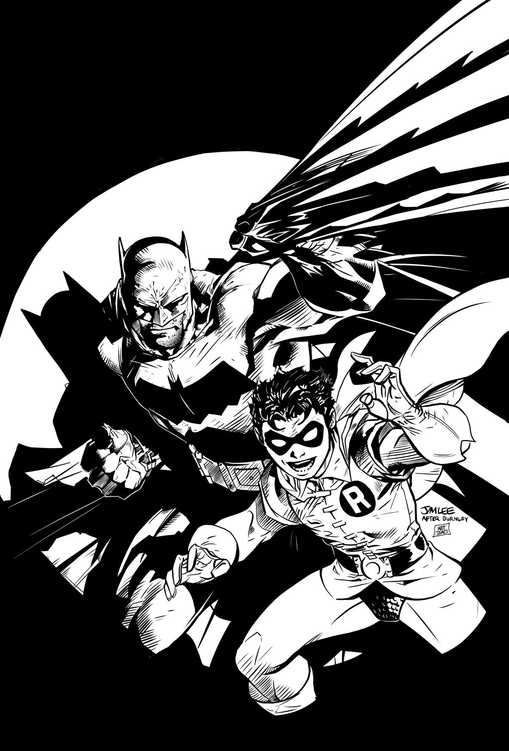 Matt james batman and robin jim lee by snakebitartstudio dbqrhb8