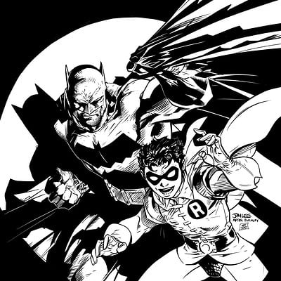 Matt james batman and robin jim lee by snakebitartstudio dbqrhb8