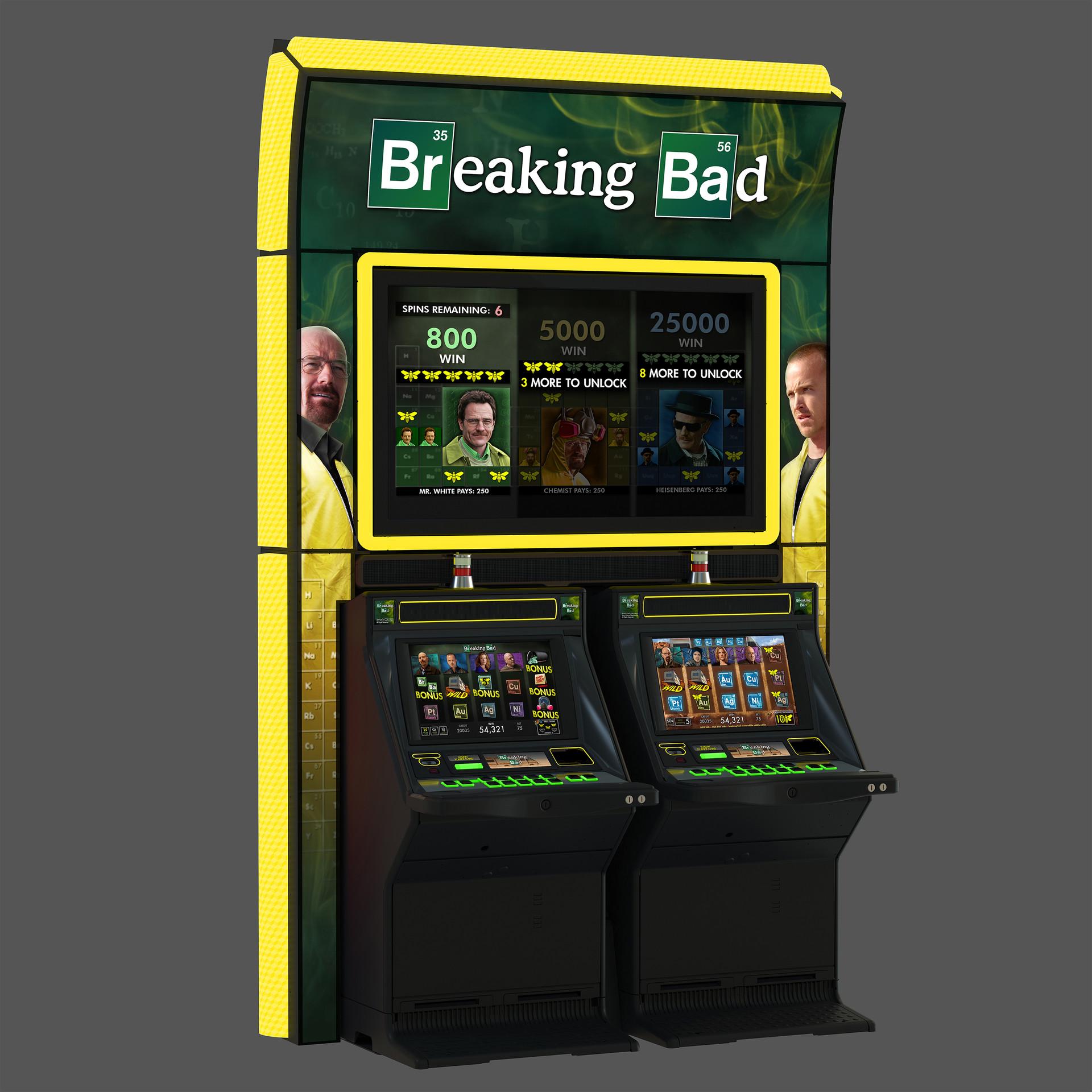 Cabinet design for Breaking Bad.