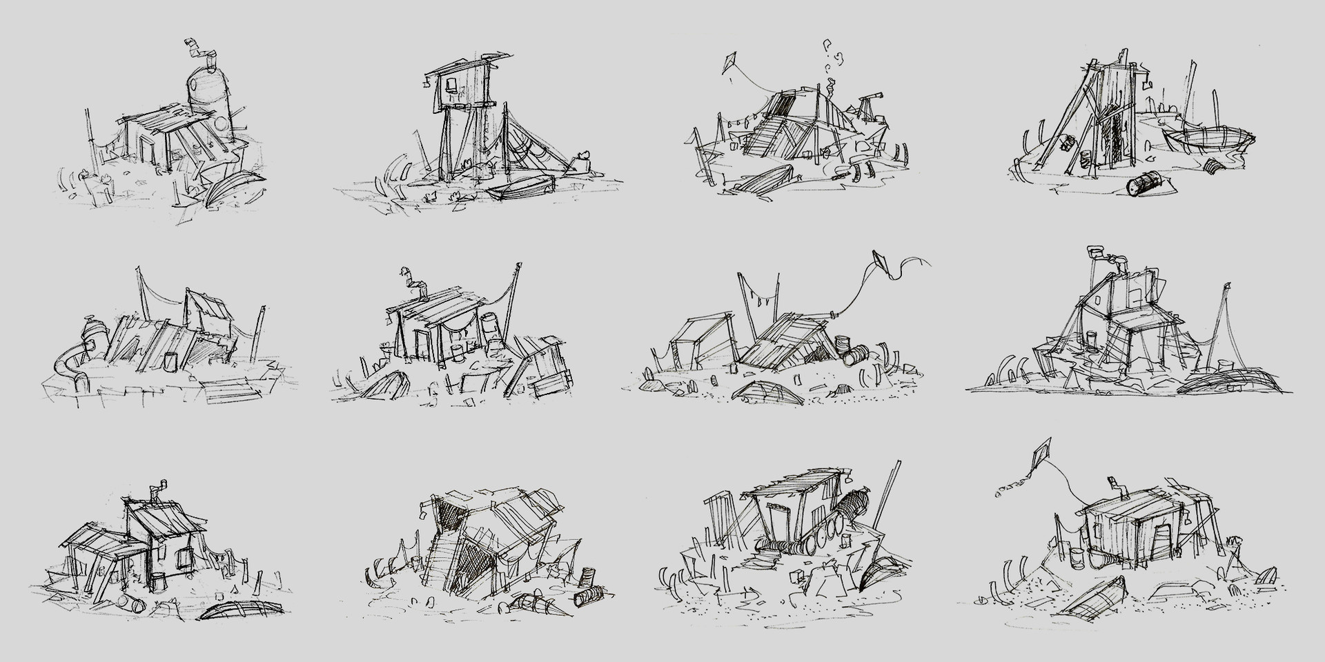 Thumbnails / Design phase