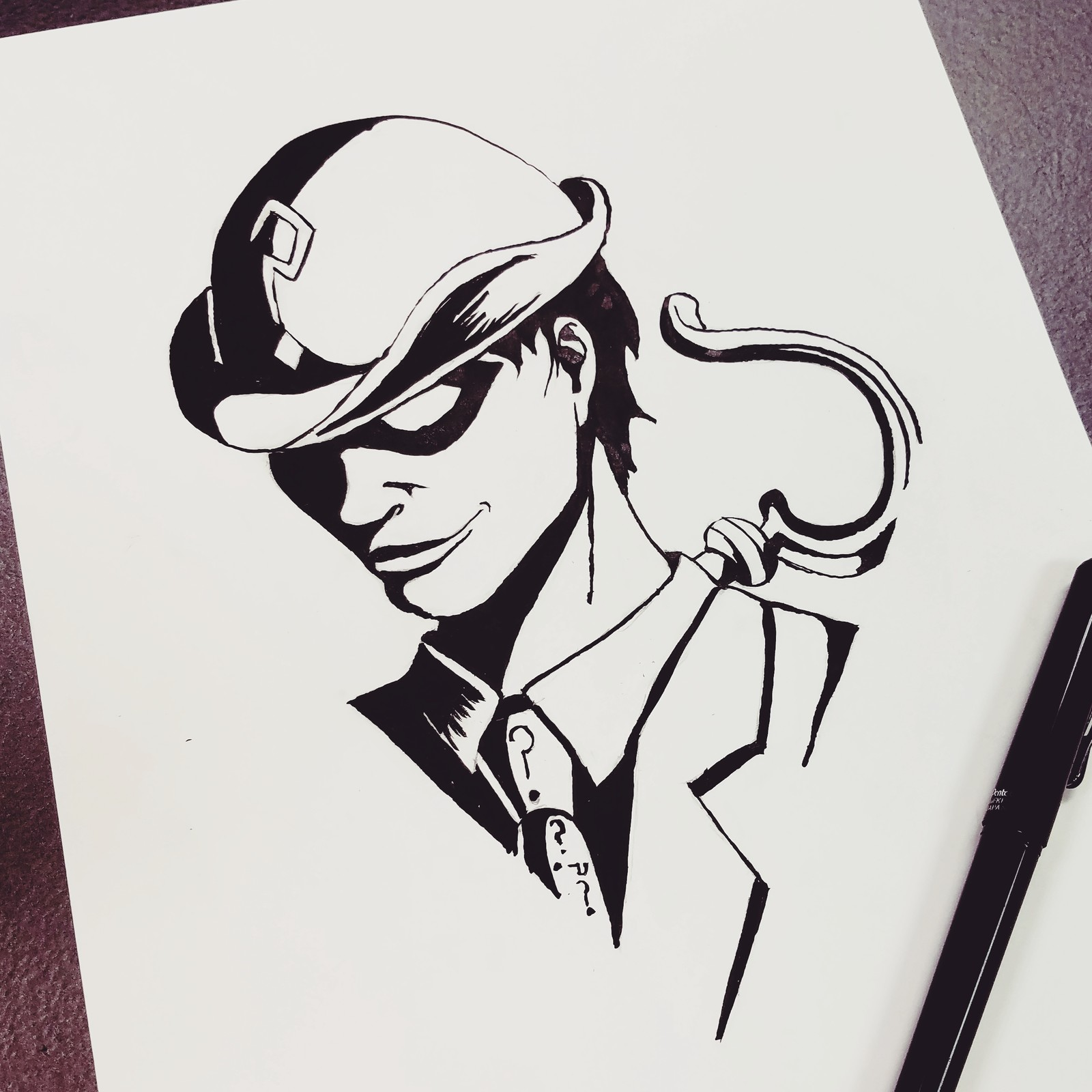 The Riddler (Inktober Day 15: Mysterious)