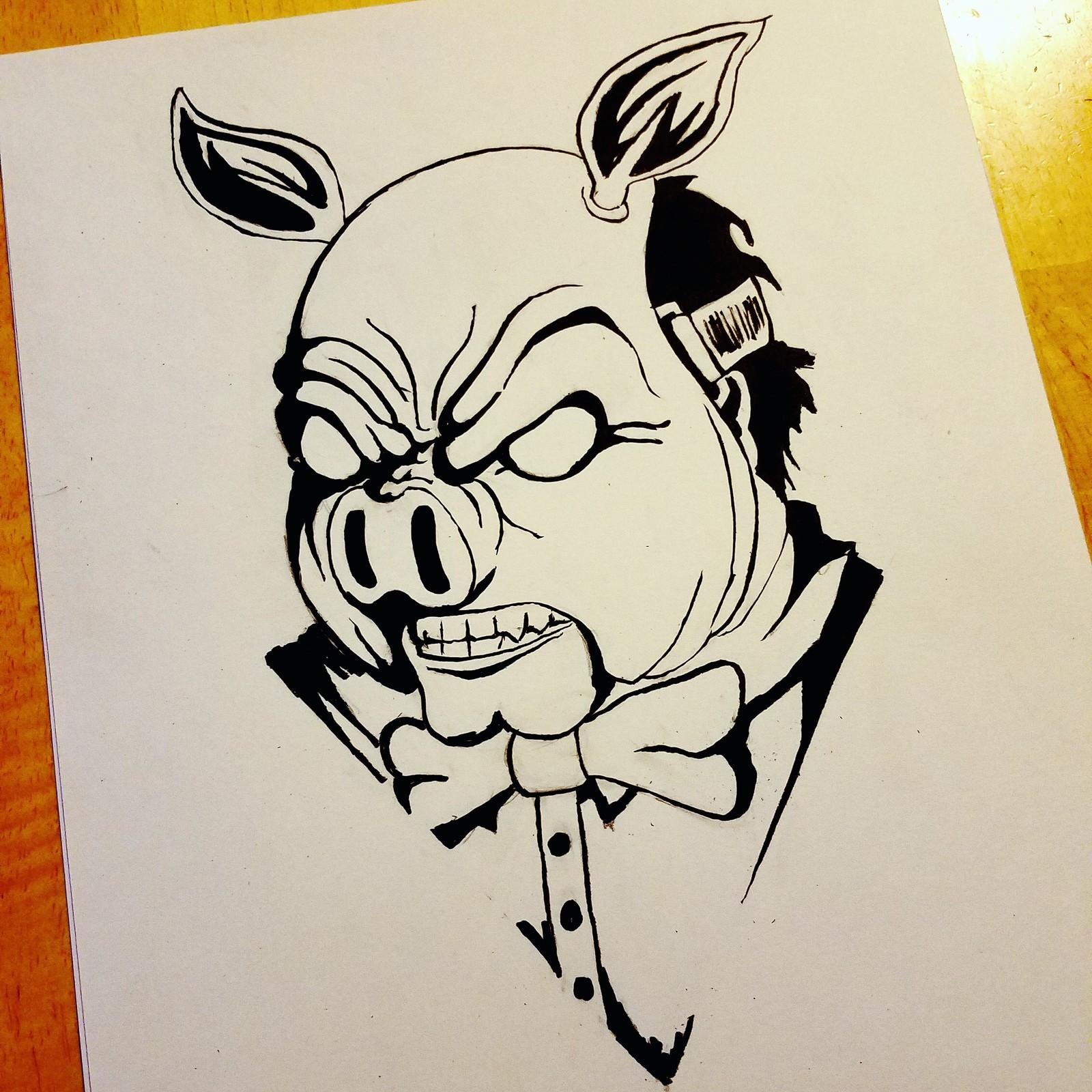 Professor Pyg  (Inktober Day 16: Fat)