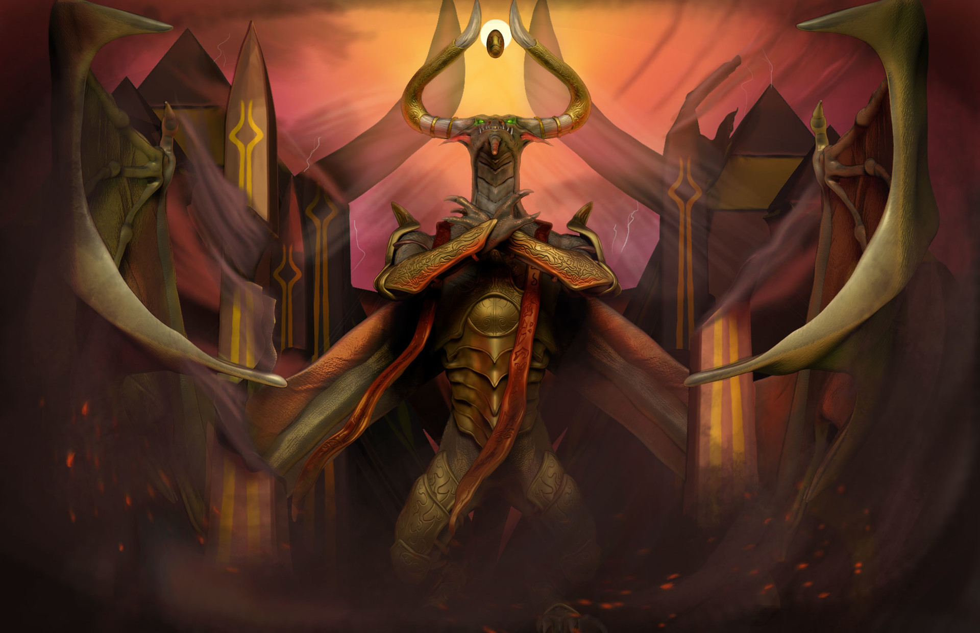 Image result for nicol bolas god pharaoh art