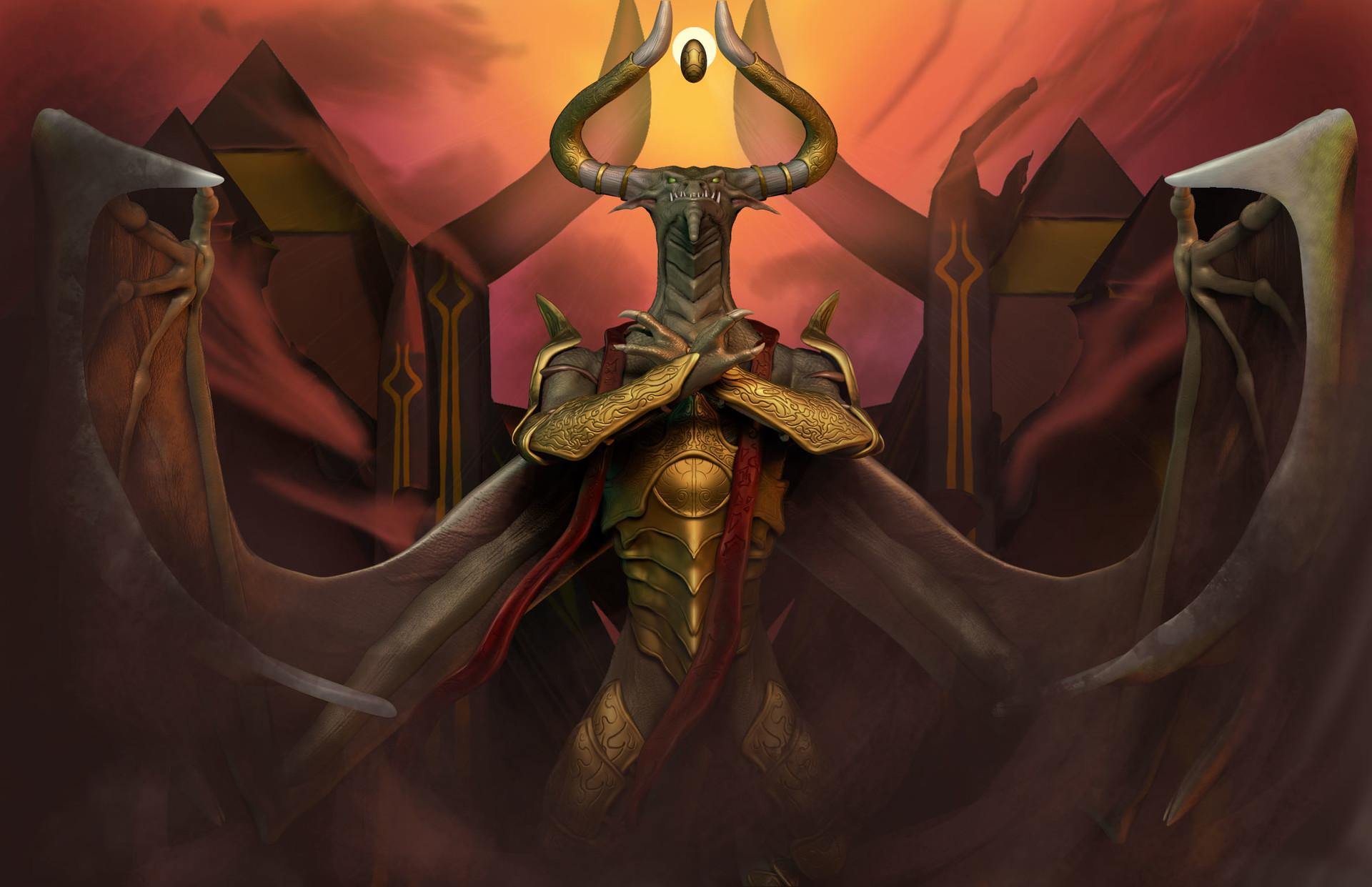 Artstation Nicol Bolas God Pharaoh Fanart Magic The