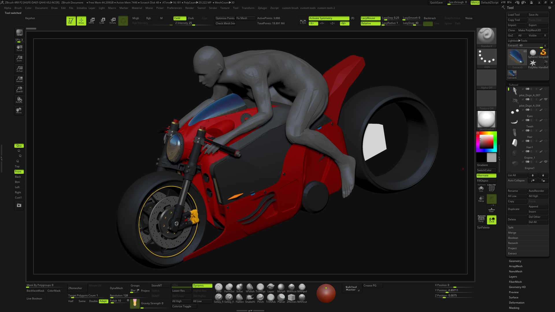 a lot changed for the bike's head design.. felt that the circular design was not unique enough