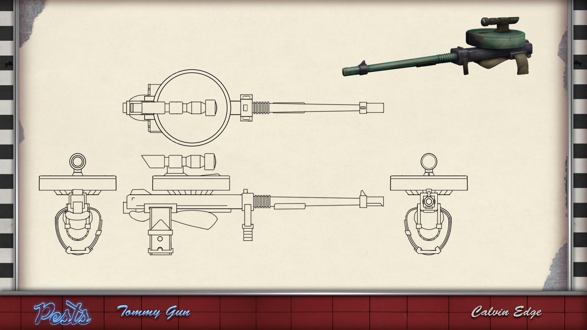 ArtStation - Tommy gun, Calvin Edge