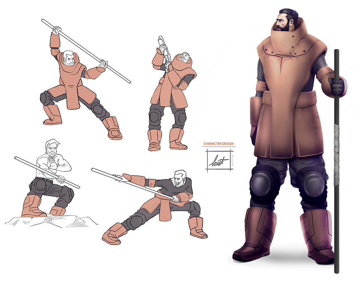 Character for Personal project - 001 2016