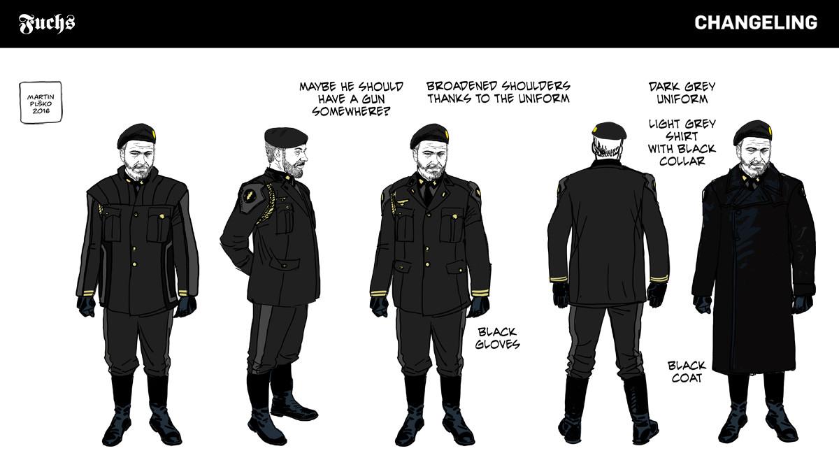 SS Standartenfuehrer Hans Fuchs, uniform concepts.