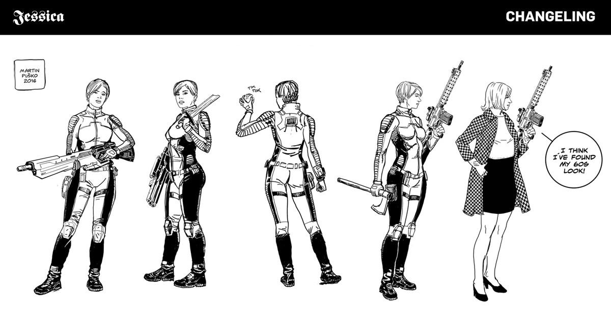 Jessica Tanner, special forces agent, uniform concepts.